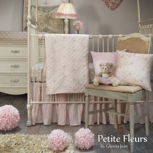 Petitte Fluers 3 Piece Crib Set (Redesign)