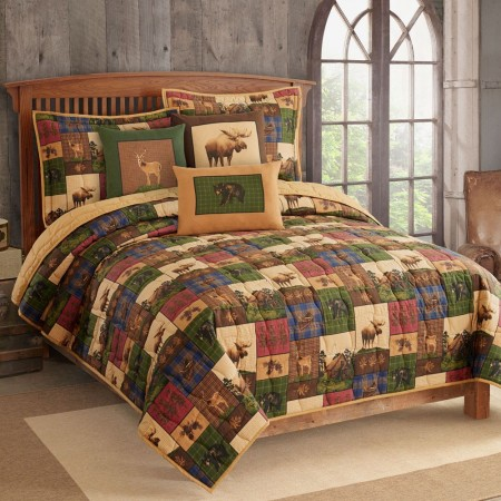 The Lodge Quilt and Sham Set - King Size - Clearnace