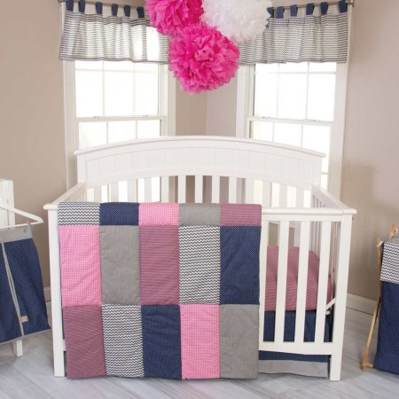 Perfectly Pretty 3 Piece Crib Bedding Set