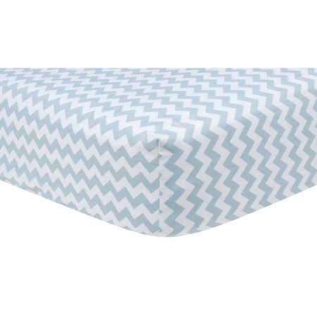 Blue Sky Chevron Crib Sheet