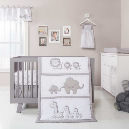 Safari Chevron 3 Piece Crib Bedding Set