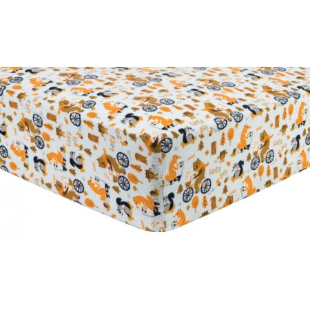 Let's Go Deluxe Flannel Fitted Crib Sheet