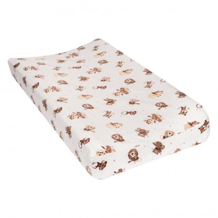 Safari Rock Band Deluxe Flannel Changing Pad Cover