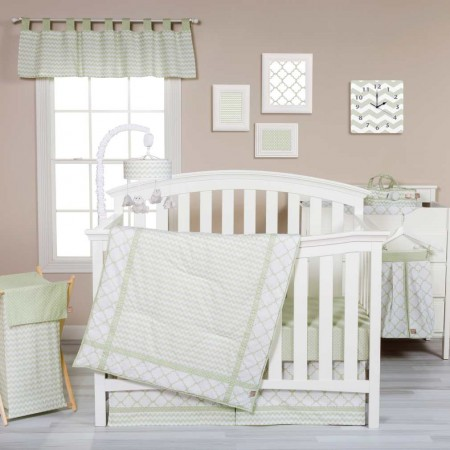 Sea Foam 3 Piece Crib Bedding Set