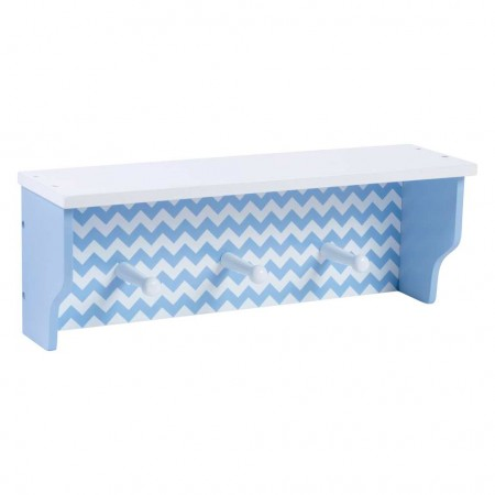 Blue Chevron Shelf