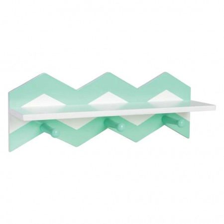 Mint Chevron Wall Shelf