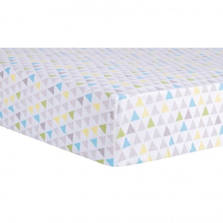 Triangles Multicolored Fitted Crib Sheet