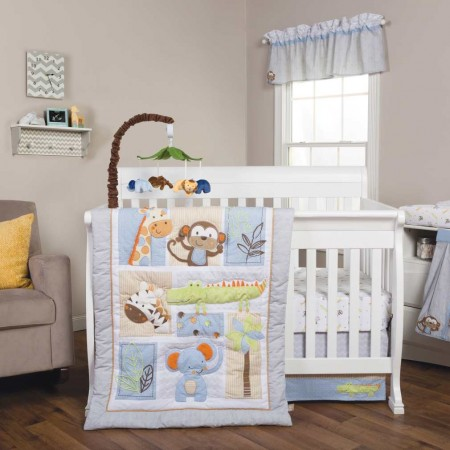 Jungle Fun 6 Piece Crib Bedding Set