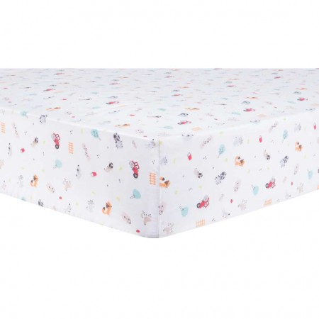Farm Stack Fitted Crib Sheet