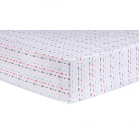 Multi-Color Arrows Fitted Crib Sheet