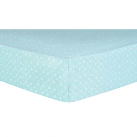White Arrows Fitted Crib Sheet