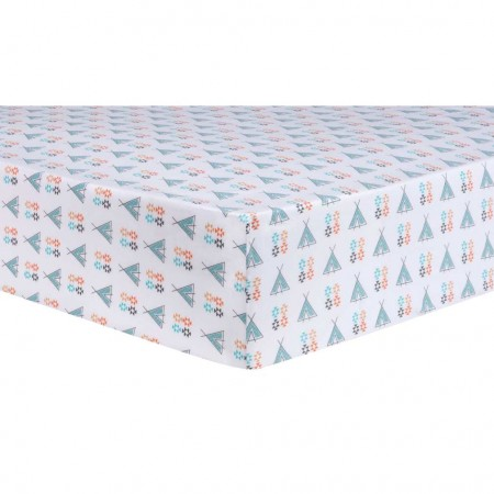 Aztec Tepee Fitted Crib Sheet
