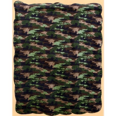 Camouflage  Throw Size Quilt