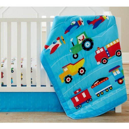 Trains, Planes, Trucks 3 pc Crib Set