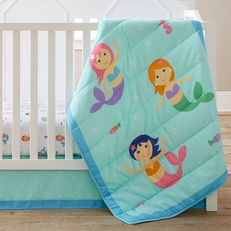 Mermaids 3 pc Crib Set