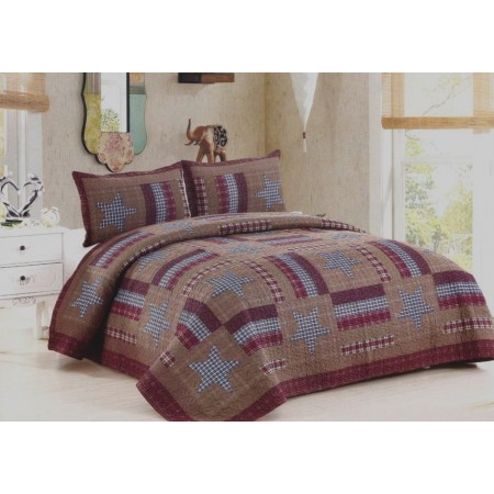Barnwood Star Quilt Set - Full/Queen Size - Includes Shams
