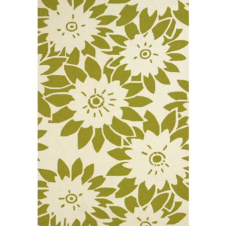 Garden Canvas Lime Area Rug - Coastal Style Area Rug