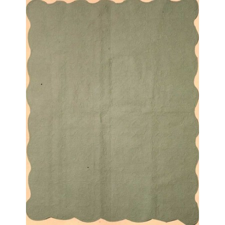 Harmonious Mist Throw Size Quilt - Green