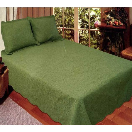 Harmonious Mist Quilt Set - Green - Full/Queen Size - Includes Shams