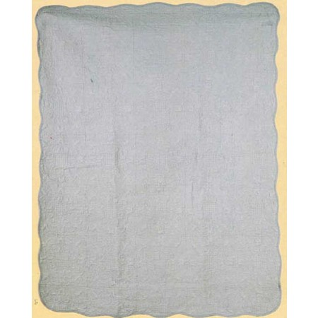 Harmonious Mist Throw Size Quilt - Gray