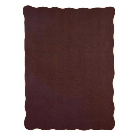 Harmonious Mist Throw Size Quilt - Chocolate Brown