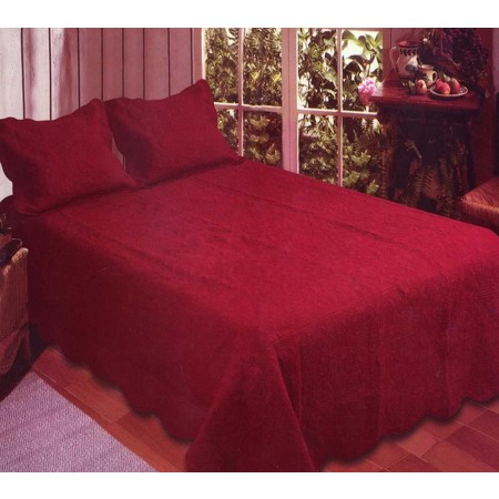 Harmonious Mist Quilt Set - Red Brick - Queen Size - Includes Shams