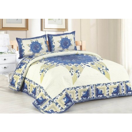 Laura Mae King Size Quilt Set - Includes 2 Standard Pillow Shams
