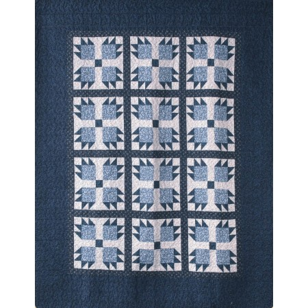 Blue Whitney Throw Size Quilt