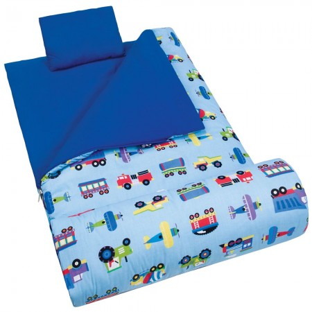 Trains, Planes & Trucks Sleeping Bag by Olive Kids