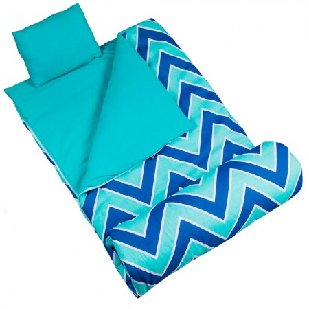 Chevron Seabreeze Sleeping Bag by Olive Kids