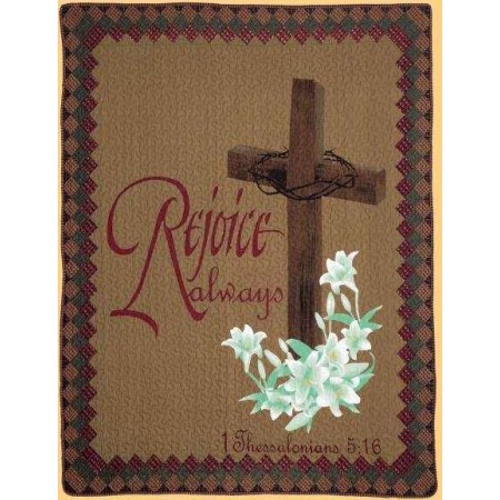 Rejoice Throw Size Quilt