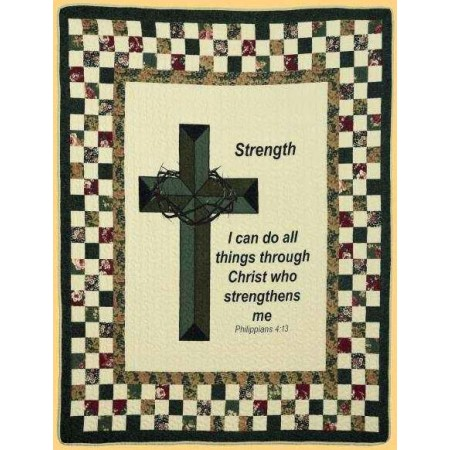 Strengthens Me Throw Size Quilt