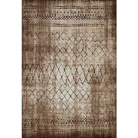LUCID LIGHT BROWN Area Rug - Transitional Style Area Rug
