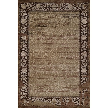RELIC LIGHT BROWN Area Rug - Transitional Style Area Rug