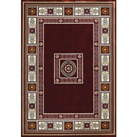 ORIENTAL BORDER RUBY Area Rug - Traditional Style Area Rug
