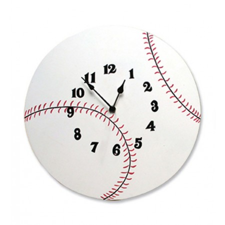 WALL CLOCK - BASEBALL