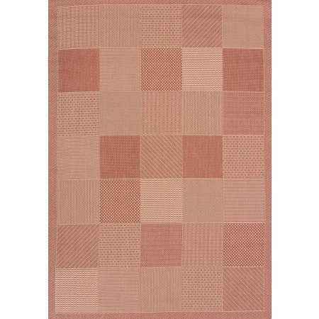 "Patio Block Terra Area Rug (94"" X 126"")"