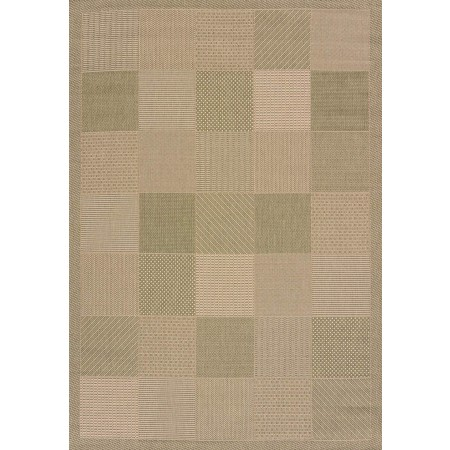 "Patio Block Green Area Rug (94"" X 126"")"