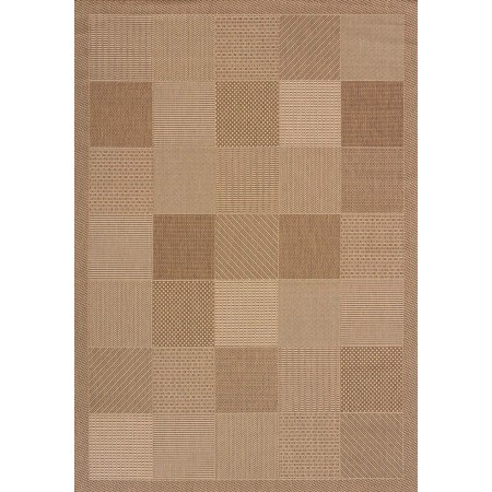 "Patio Block Brown Area Rug (94"" X 126"")"