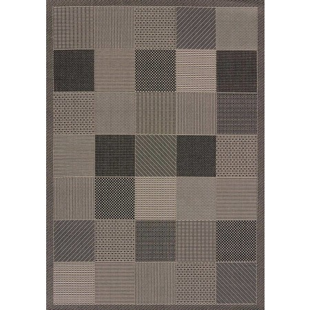 "Patio Block Grey Area Rug (94"" X 126"")"