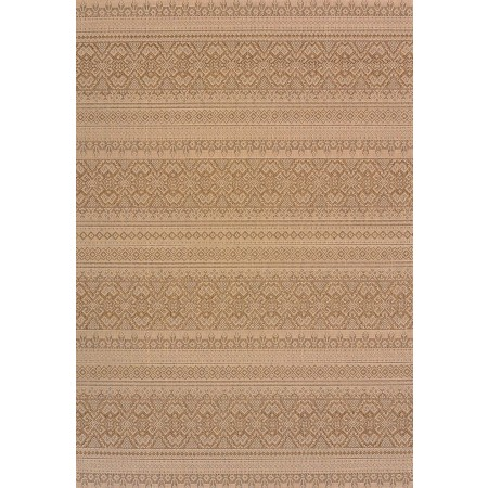 "Alfresco Brown Area Rug (94"" X 126"")"