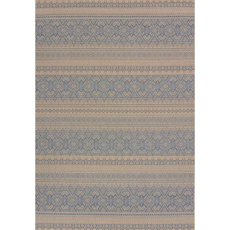"Alfresco Blue Area Rug (94"" X 126"")"