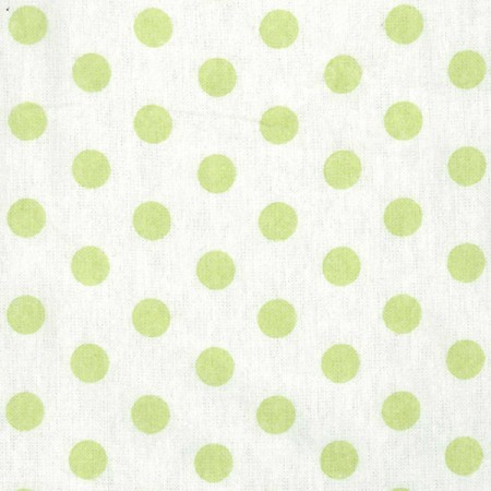 Crib Sheet - Sage Green And White Dot Print Flannel