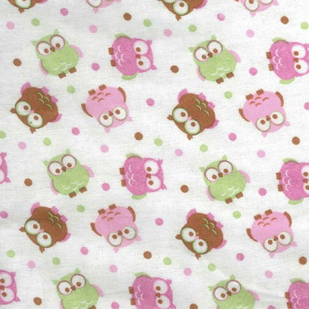 Crib Sheet - Owl Print Flannel
