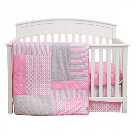 LILY - 3 PIECE CRIB BEDDING SET