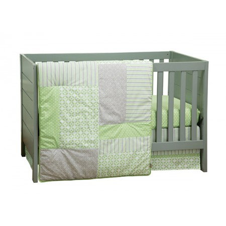 LAUREN - 3 PIECE CRIB BEDDING SET