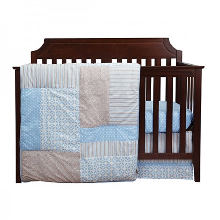 LOGAN - 3 PIECE CRIB BEDDING SET