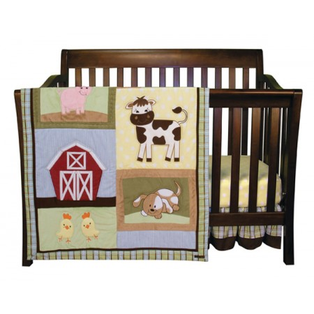 BABY BARNYARD - 3 PIECE CRIB BEDDING SET