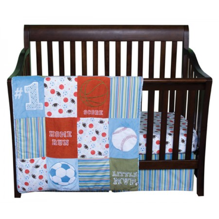 LITTLE MVP - 3 PIECE CRIB BEDDING SET