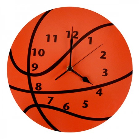 WALL CLOCK - BASKETBALL